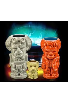 Back To The Future Tiki Mugs Set - 3D Retro
