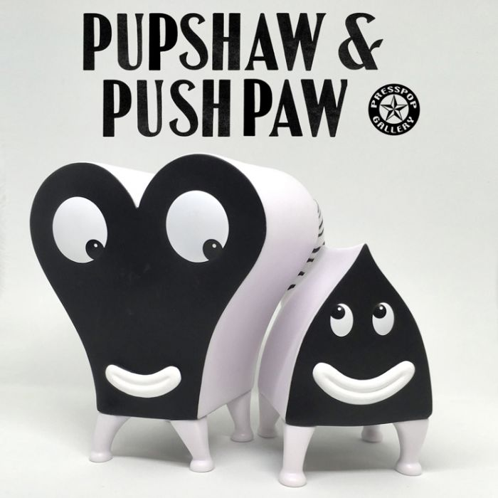 Pupshaw and Pushpaw Black & White Edition - Jim Woodring x Press Pop