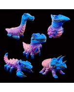 Fossil Pods Purple Clear Painted James Groman